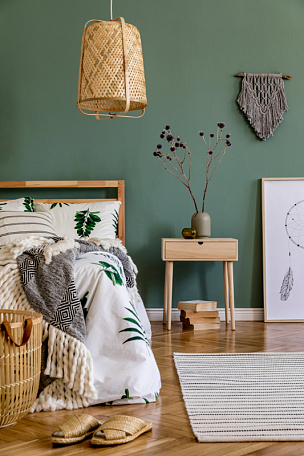 模板,木制,高雅,装饰物,室内,卧室,枕头,柳条,边框