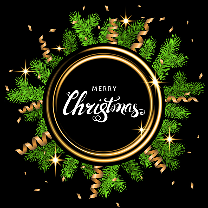 云杉,黄金,枝,圣诞卡,文字,蛇型湖,白色,贺卡,新的,边框