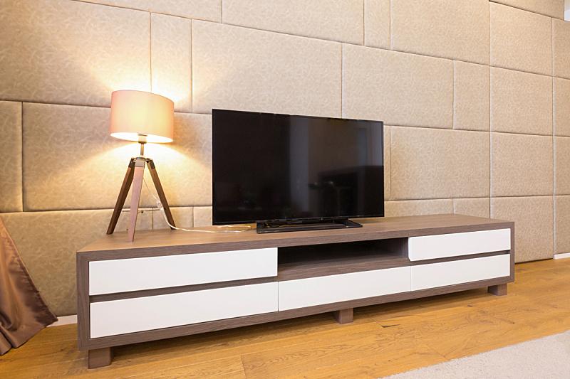 起居室,室内,公寓,男人空间,电视机,复合地板,刻板印象,水平画幅,无人,家庭生活