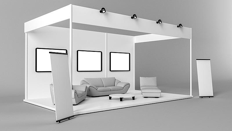 货亭,烙铁,创造力,三维图形,白色,空白的