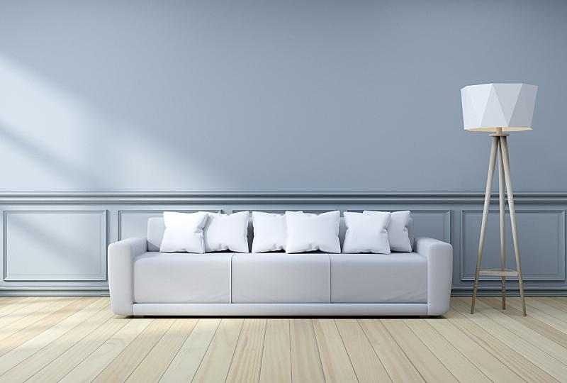 边框,室内设计师,灯,极简构图,沙发,灰色,墙,三维图形,硬木,地板