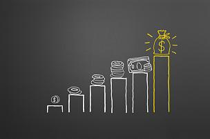 储蓄,粉笔画,水平画幅,美元符号,计算机制图,计算机图形学,银行存款单,商业金融和工业,背面视角,比较