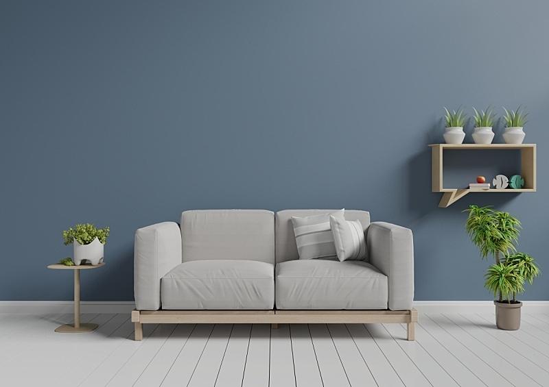 沙发,起居室,个人随身用品,白灰泥,留白,新的,灵感,水平画幅,无人,家具