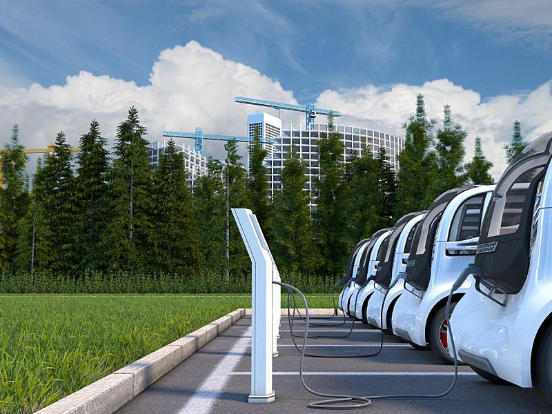 电车,电动汽车,电动汽车充电站,概念车,车队,电,可持续资源,电力线,电插头,加燃料
