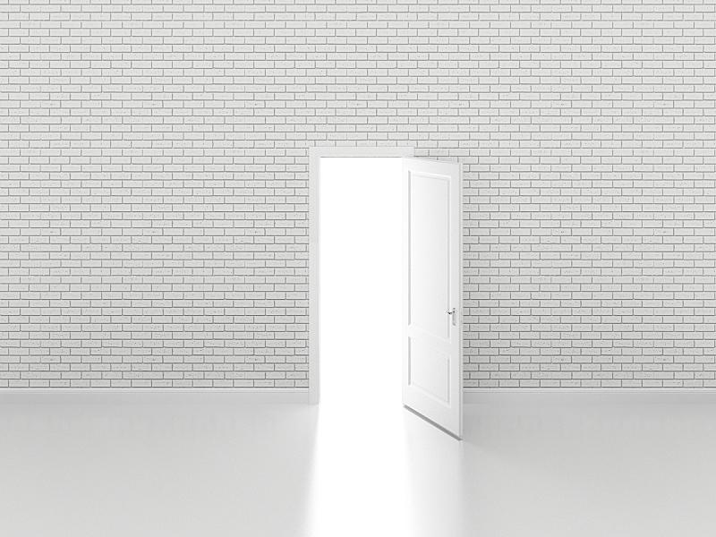 白色,三维图形,门,易接近性,砖墙,窗户,太空,住宅房间,水平画幅,风化的