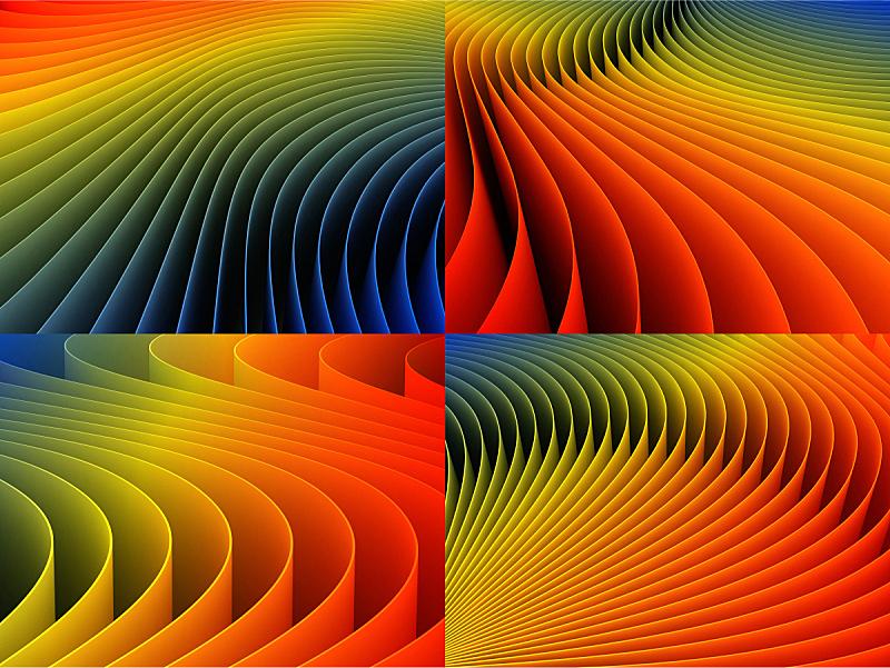 式样,背景,多色的,三维图形,留白,未来,艺术,水平画幅,绘画插图,阴影