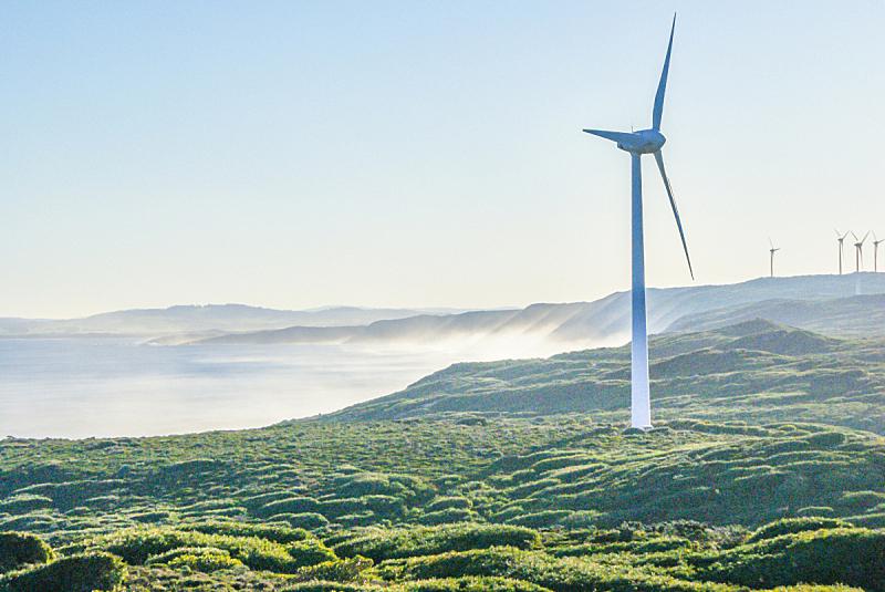 风力发电站,风轮机,风力,旅途,澳大利亚,自然,水,天空,风,水平画幅