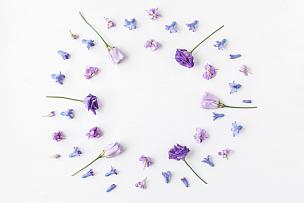 花环,白色背景,多色的,多样,紫色,丁香花,母亲节,国际妇女节,风信子,留白