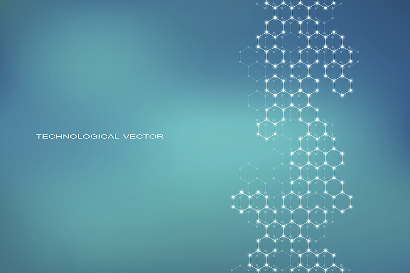 分子,六边形,分子结构,神经元,脱氧核糖核酸,健康保健,科学,绘画插图,矢量,背景
