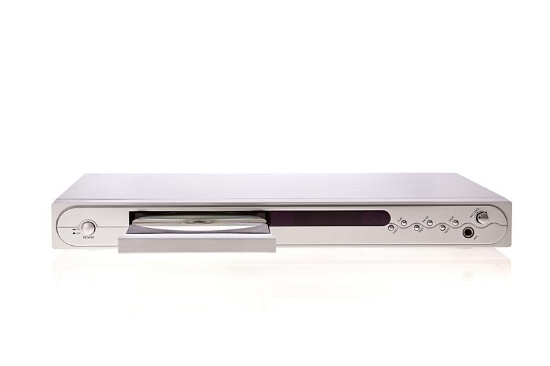 白色背景,dvd机,分离着色,disk,水平画幅,进行中,银色,背景分离,现代,开着的