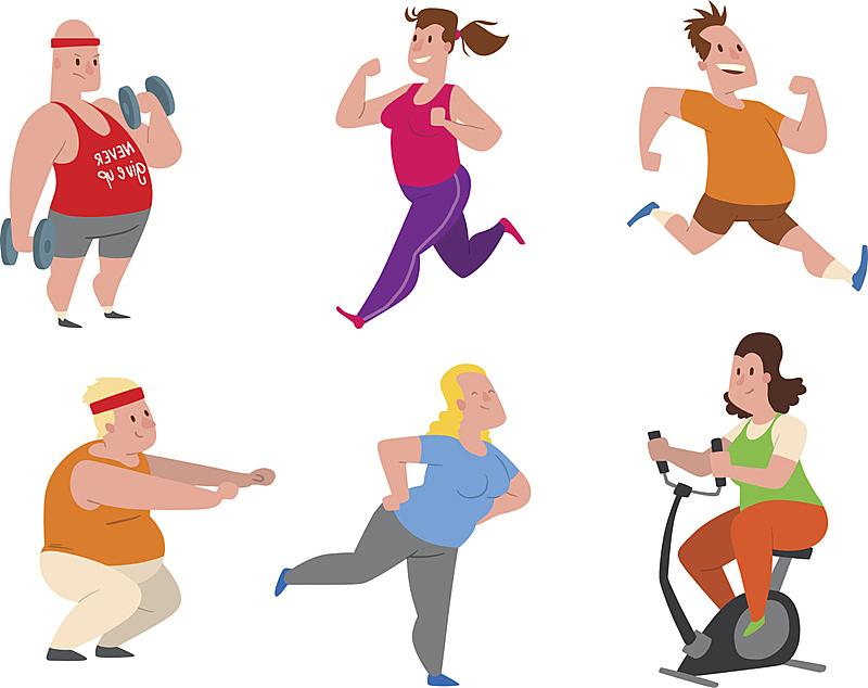 运动,学校体育馆,人,矢量,肥胖,举重训练,背景分离,女人,动物,跑步机