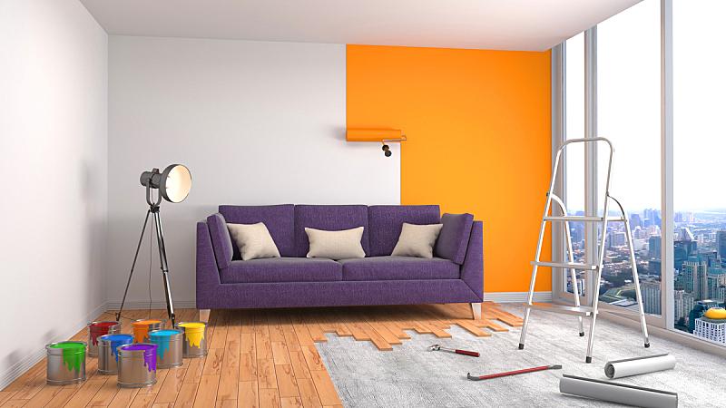 墙,绘画插图,三维图形,绘画艺术品,住宅房间,水平画幅,形状,建筑,木制,无人