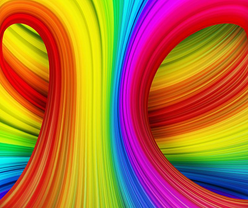 彩虹,波形,式样,水平画幅,形状,无人,蓝色,绘画插图,抽象,计算机制图