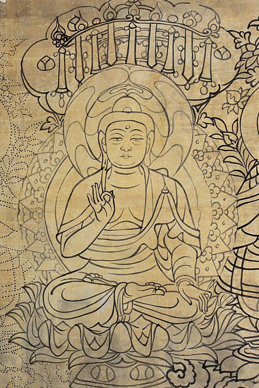 壁画,佛教,式样,莫高窟,洞室,唐朝,敦煌,丝绸之路,留白,灵性