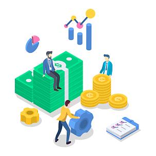 商务策略,三维图形,白色,概念,预算,矢量,彩色图片,数,绘画插图,银行业