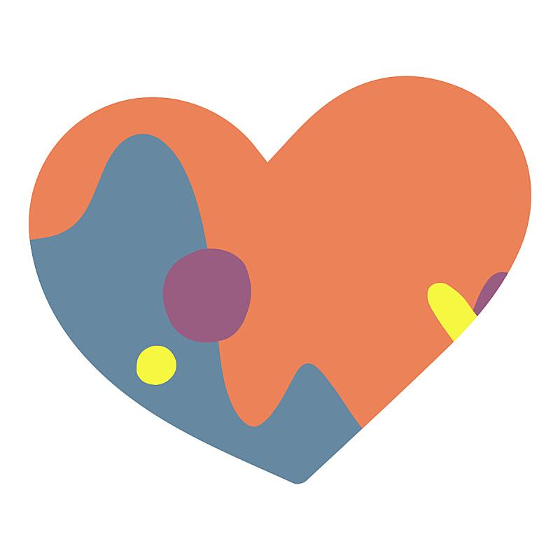 心型,可爱的,健康保健,贺卡,背景分离,热情,美术工艺,浪漫,情人节卡,橙色