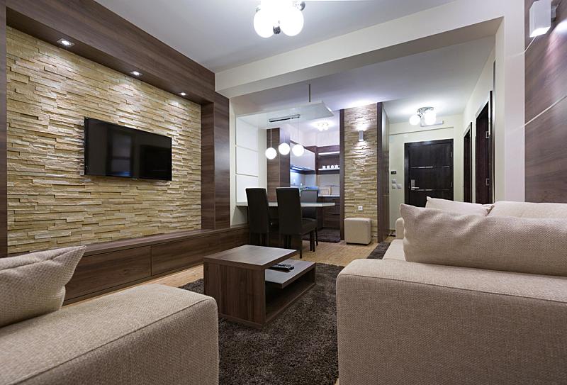 现代,公寓,室内,华贵,宾馆客房,宾馆套房,美,水平画幅,无人,家具
