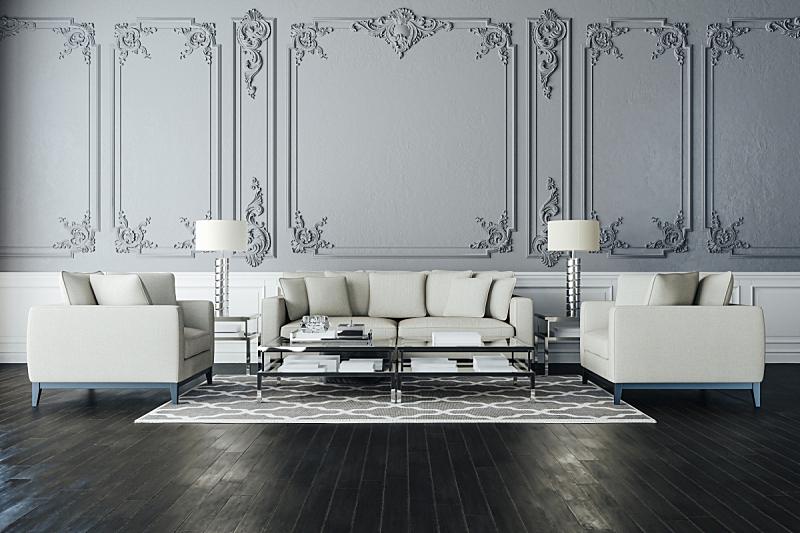 沙发,三维图形,室内,自然美,硬木地板,空的,纺织品,华贵,舒服,软垫