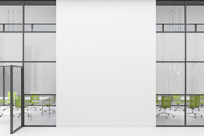 大厅,办公室,会议室,数字2,观众,室内,三维图形,空的,概念,商务