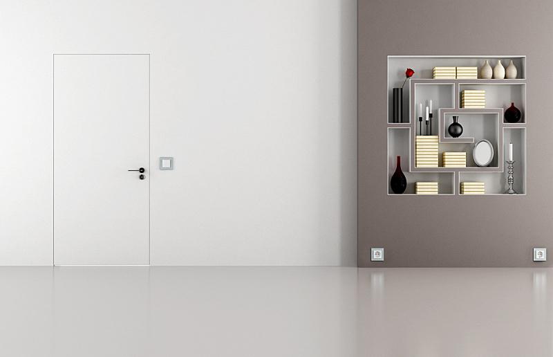 门,白色,褐色,住宅房间,小生镜,插座,地板,现代,住宅内部,居家装饰