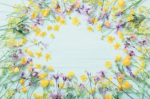 背景,夏天,木制,绿色,清新,边框,涂料,春天,草甸碎米荠,乡村风格