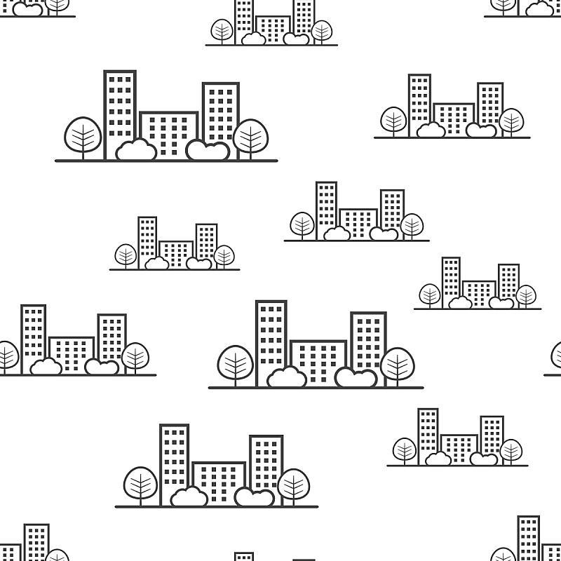 绘画插图,四方连续纹样,矢量,商务,式样,建筑外部,城市,计算机图标,背景,标志