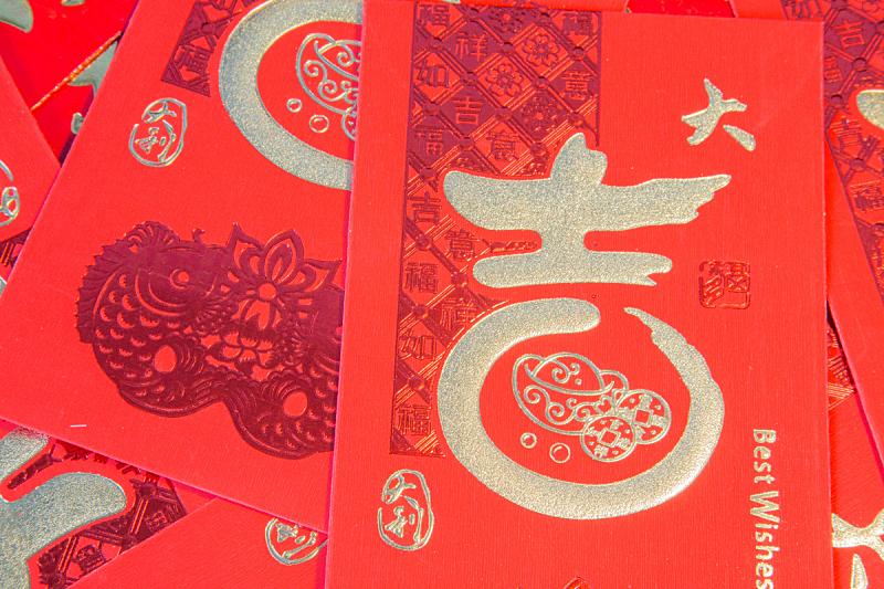 信封,红色,贺卡,水平画幅,纹理效果,金融,金融和经济,惊奇,春节,身份着装