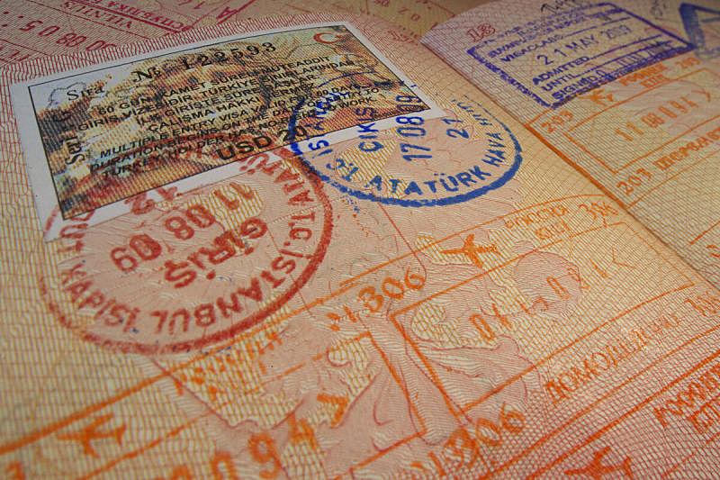 书页,土耳其,橡皮章,水平画幅,职权,旅行者,异国情调,安全