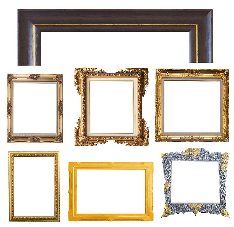 边框,水平画幅,无人,古老的,图像,复兴时期风格,画廊,一个物体,闪亮的,金色