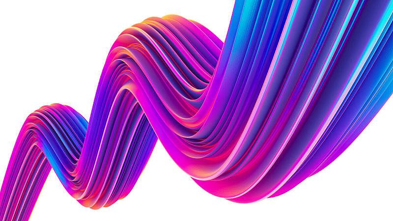 全息图,形状,色彩鲜艳,抽象,液体,紫外线灯,时髦的,三维图形,设计