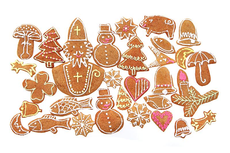 饼干,传统,季节,食品,图像,香草兰,糖,甜点心,自制的
