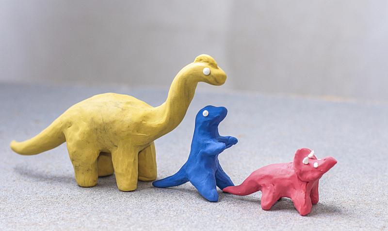 儿童游戏陶土,恐龙,秘密,玩具,已灭绝生物,侏罗纪,蜥蜴,小麦面团,动物,儿童
