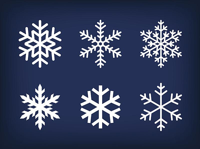 雪花,白色,蓝色背景,黑色,冰,符号,天气,雪,寒冷,圣诞装饰