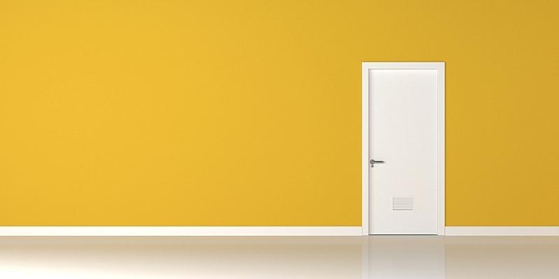 门,黄色,墙,白色,公寓,住宅房间,从容态度,豪宅,关闭的,地板