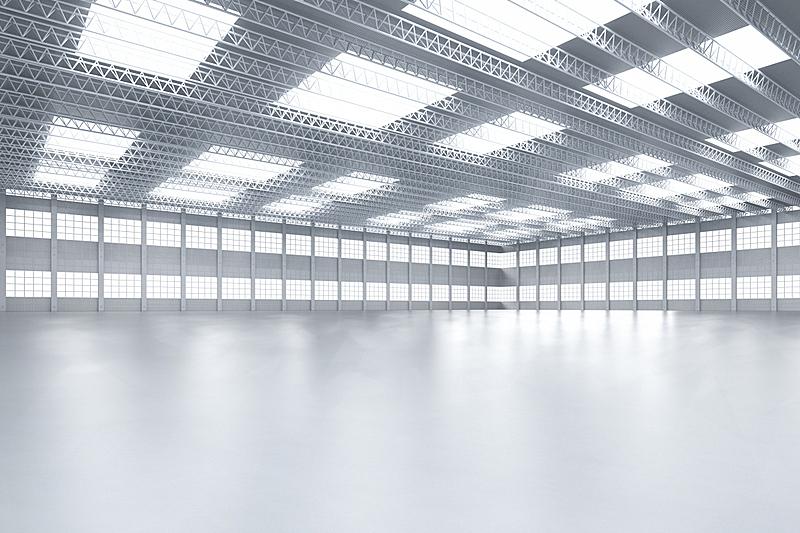 室内,无人,工厂,照明设备,现代,建筑业,飞机库,贮藏室,豪宅,走廊