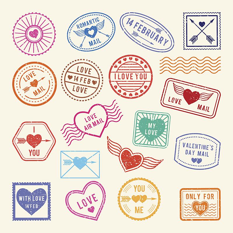 邮件,橡皮章,矢量,浪漫,信函,天气,剪贴本,设计,爱,复古