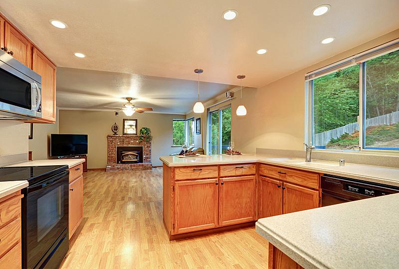 住宅房间,厨房,起居室,室内设计师,尼斯,窗户,水平画幅,建筑,无人,天花板