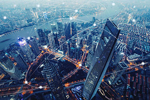 未来,现代,技术,计算机,城市,网线插头,水平画幅,在线消息,无人,网络服务器