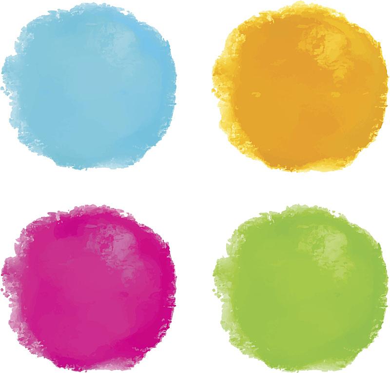 斑点,水彩画,分离着色,水彩画颜料,背景分离,彩色背景,橙色,简单,色彩鲜艳,色彩饱和