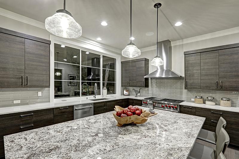 厨房,现代,华贵,住房,极简构图,传统,窗户,住宅房间,水平画幅,吧椅