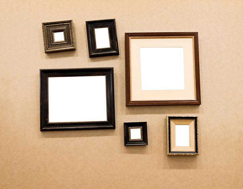 边框,数字6,相框,墙,留白,褐色,艺术,水平画幅,无人,组物体