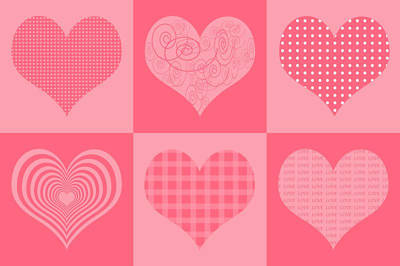 贺卡,心型,粉色,婚礼,纹理,古典式,计算机制图,计算机图形学,模板,蜜月