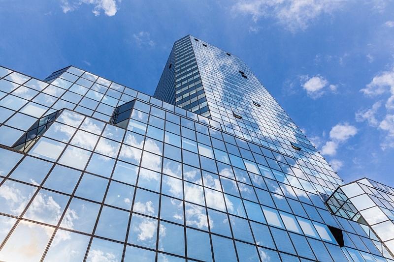 摩天大楼,窗户,水平画幅,无人,玻璃,办公楼外观,建筑外部,现代,摄影,反射