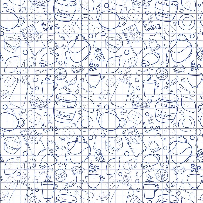 矢量,背景,四方连续纹样,茶,练习本,糖果店,烤咖啡豆,绘画插图,生日
