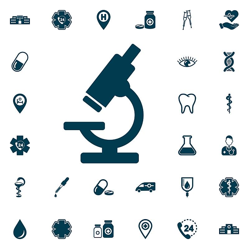 显微镜,绘画插图,矢量,健康保健,计算机图标,动机,白色背景,分离着色,微生物学,符号