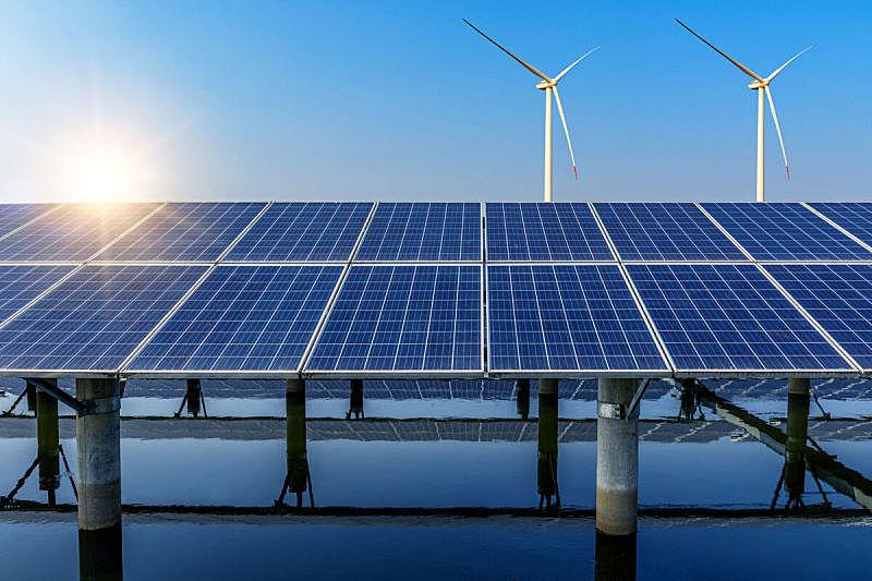 太阳能电池板,能源,风,设备用品,自然,天空,水平画幅,无人,蓝色,户外