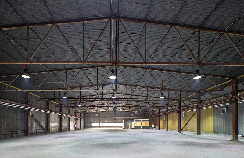 仓库,工业,器材箱,机库,办公室,天空,未来,水平画幅,无人,巨大的