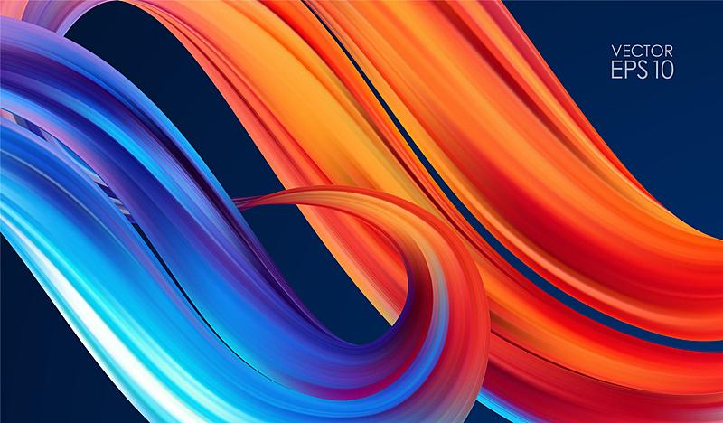 形状,现代,矢量,式样,色彩鲜艳,液体,背景,波形,流动