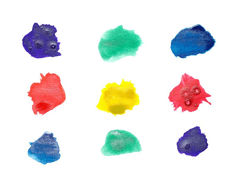白色,创造力,多色的,水彩画,笔触,分离着色,绘画插图,水,艺术,水平画幅