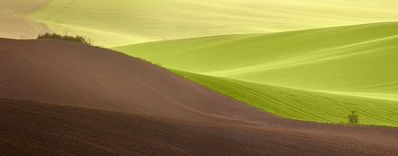 田地,绿色,地形,自然美,时间,摩拉维亚,天空,美,水平画幅,山